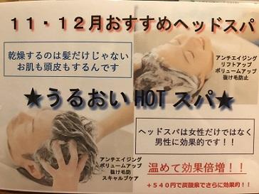11月、12月おすすめヘッドスパ!!!